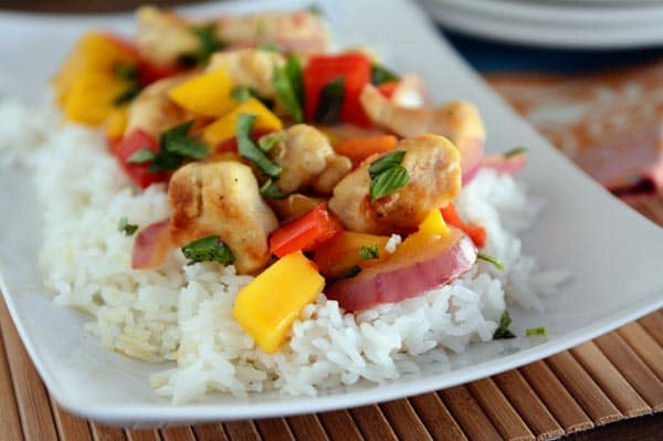 Image result for images of chicken stir fry with lemon and mango