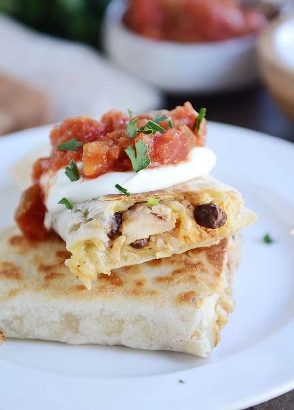 Crispy Chicken Wraps {Southwest Style} - Mel's Kitchen Cafe