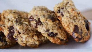 Quinoa Chocolate Chip Oatmeal Granola Cookies