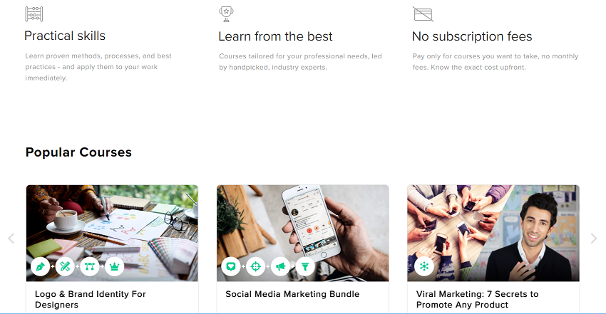 Fiverr Learn main features