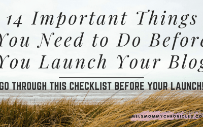 14 Important Things to Do Before You Launch Your Blog