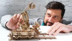 Ugears Rail Manipulator Mechanical Town Series (77)
