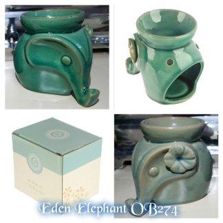 Ceramic Eden Elephant with Flower Oil Burner