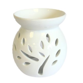 Small White Tree Cut Out Oil Burner