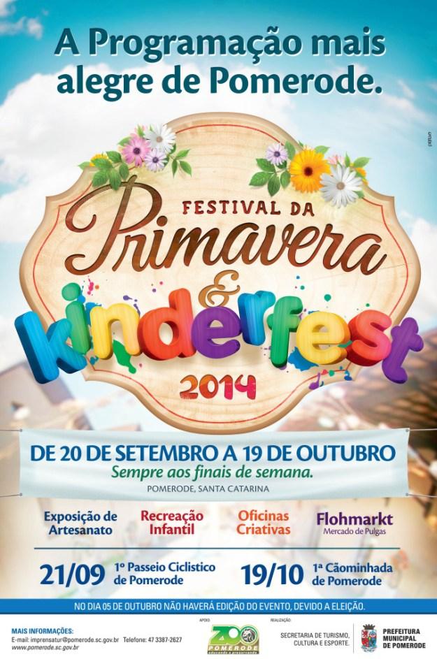 Pomerode - 140917 - Festival da Primavera e Kinderfest (Imagem Reprodução)