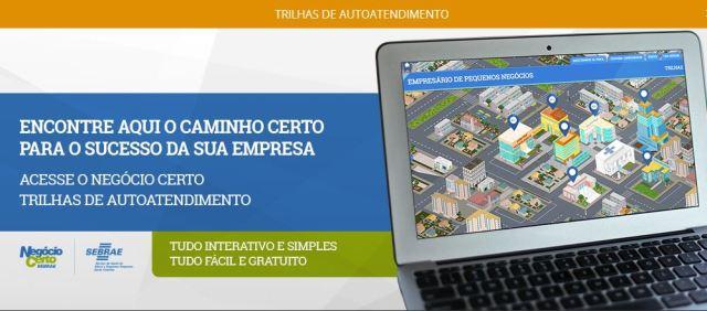 Programa de autoatendimento Negócio Certo traz capacitação gratuita para empreendedores. Imagem: Divulgação