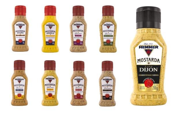 Mostarda Dijon complementa a linha que agora conta com nove rótulos. Imagem: Divulgação