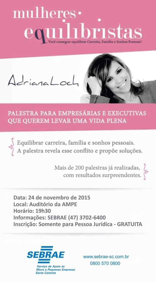 Palestra gratuita do Sebrae para mulheres empreendedoras. Imagem: Divulgação