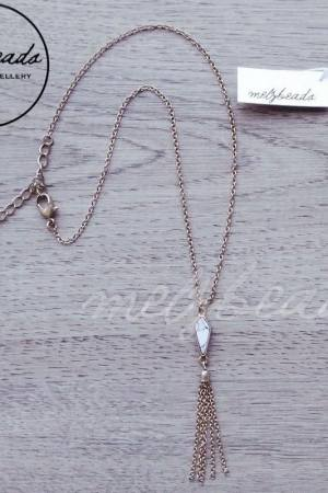 Tassel Necklace with Semi Precious Howlite