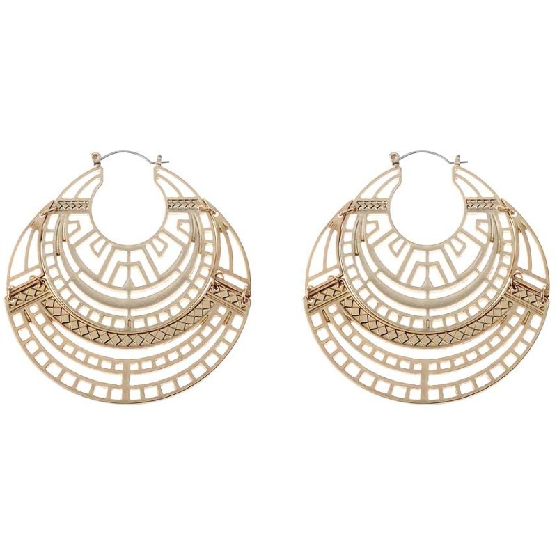 Antique gold statement earrings