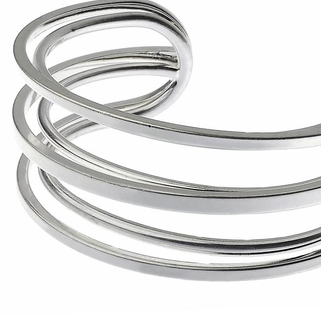 Chunky Silver Cuff Bracelet Bangle
