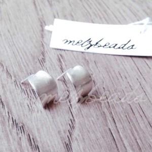 Sterling Silver Open Hoop Stud Earrings