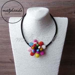 Alison Coloured Flower Petal Mix Necklace