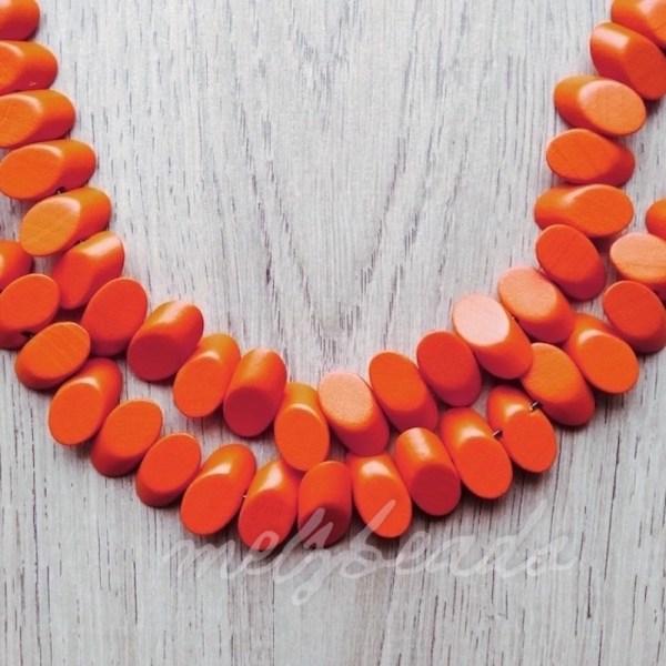 Wooden Confetti Orange Necklace