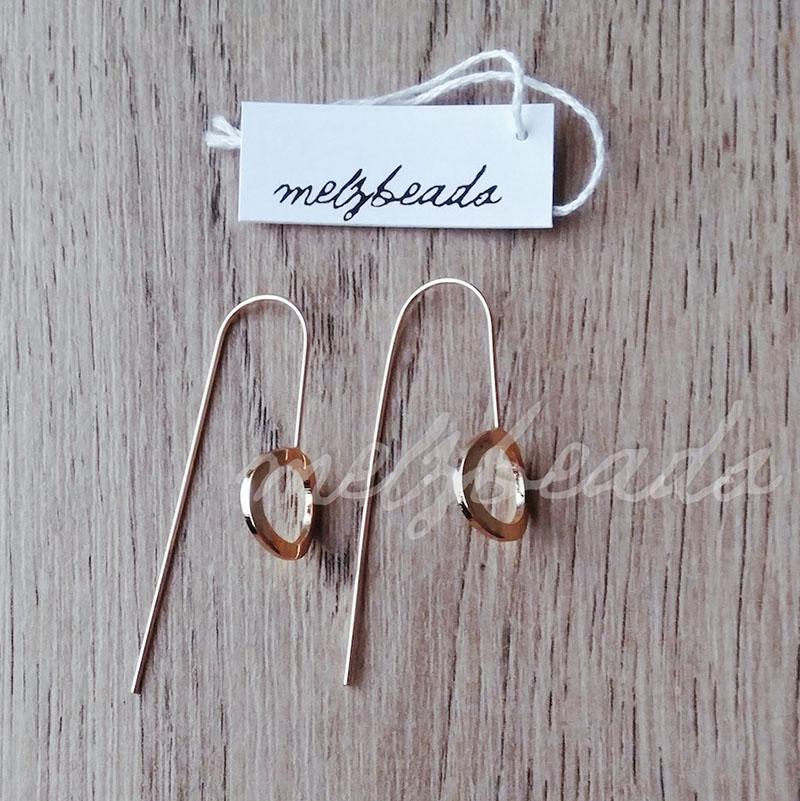 Cutout Circle Gold Women Fashion Earrings