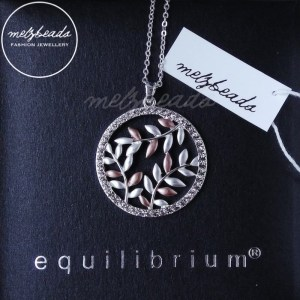 Equilibrium Silver & Rose Gold Leaves Long Necklace