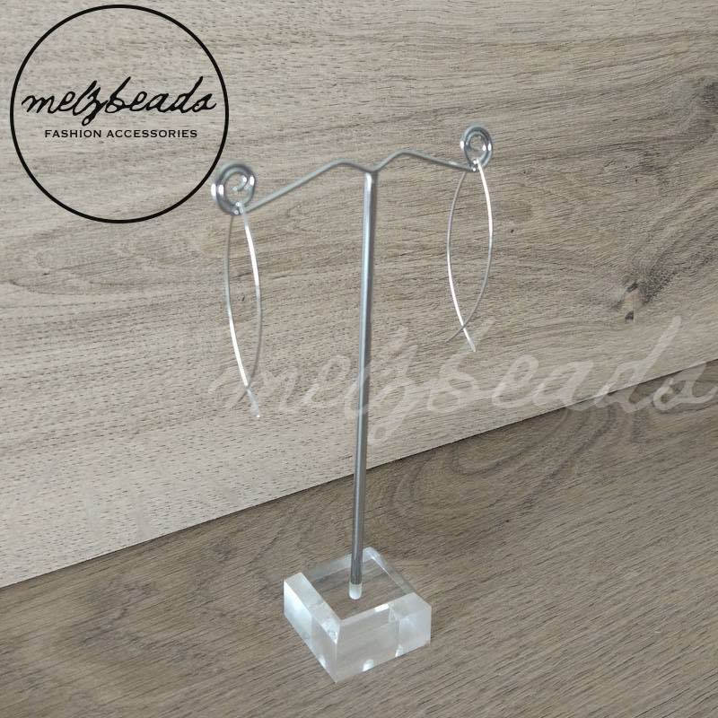 silver threader earrings