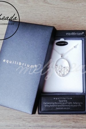 Equilibrium Oval Circle Diamente Necklace