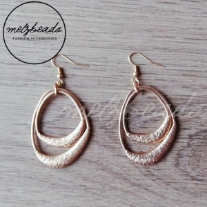 Gold Double Layer Dangle Earrings
