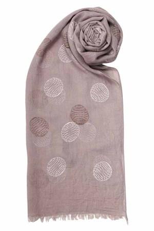Grey globe scarf