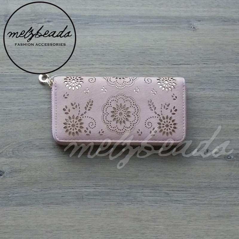 pink wallet purse