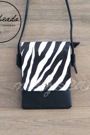 Zebra Crossover Flap Bag