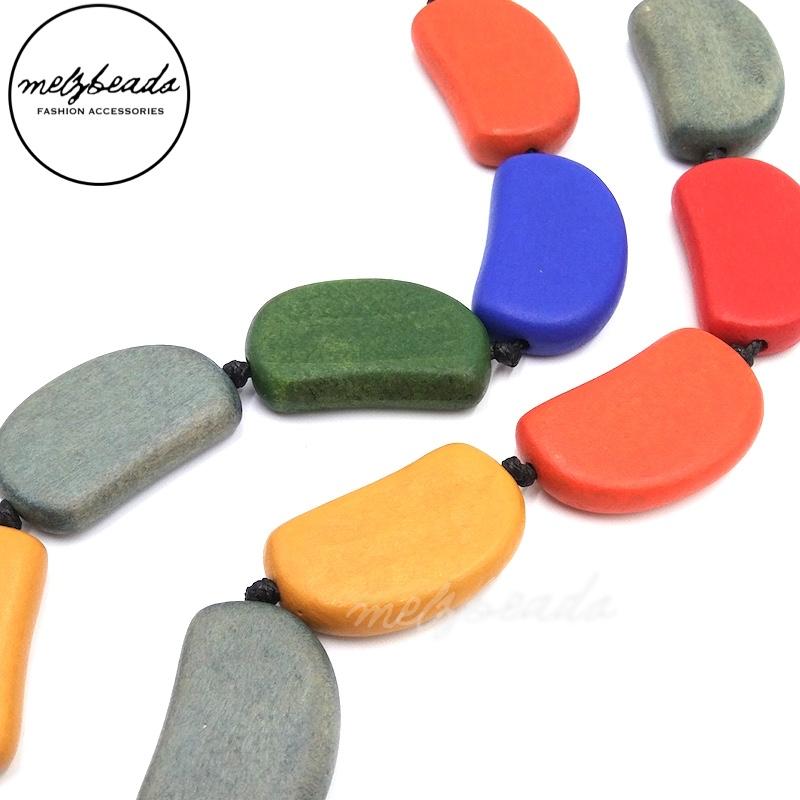 Wooden Bead Multi Colour Necklace