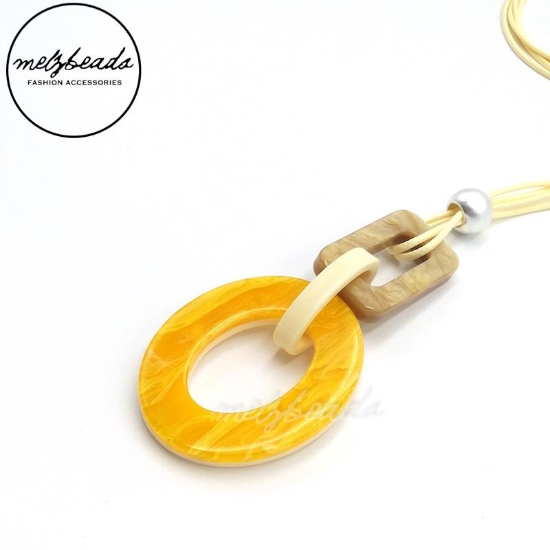 Daphanie Yellow Geometric Necklace