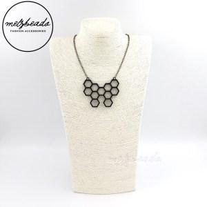 Hexagon Honeycomb Pendant Necklace