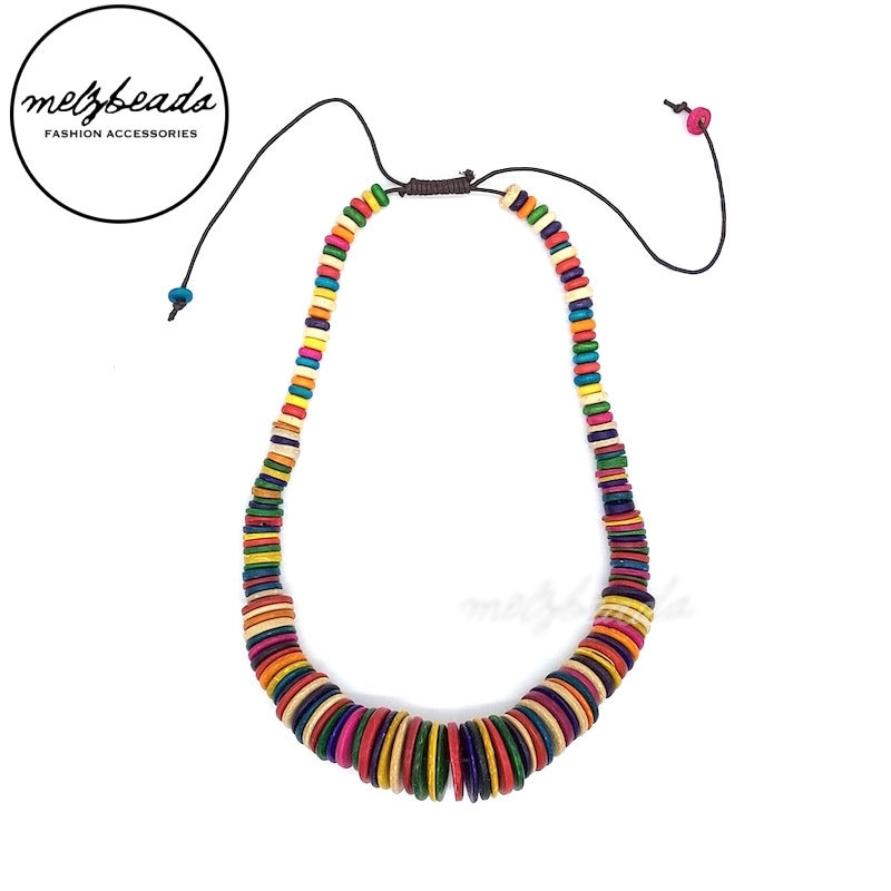 Chunky Colourful Coconut Shell Necklace