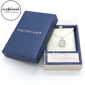 Equilibrium Music Treble Clef Pendant Necklace in Silver