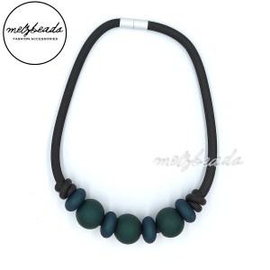 Dark Green Rubber Choker