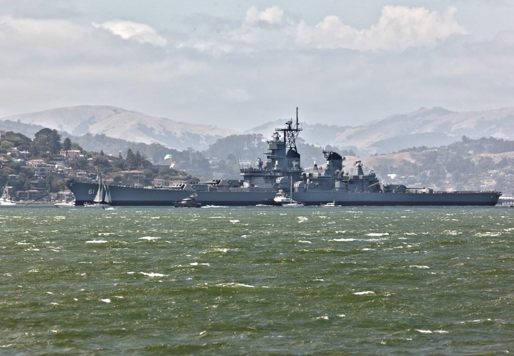 USS Iowa passes Tiburon - HDR Version