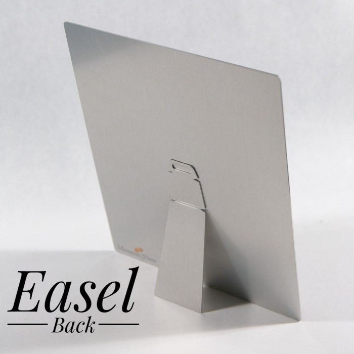 Memento Press Metal print with Easel Back for Tabletop Display