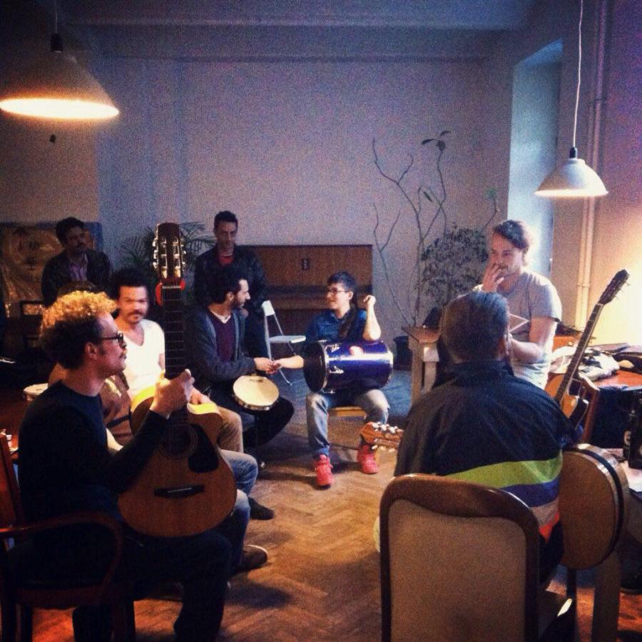 Rehearsing at Agora