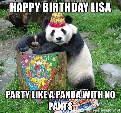 Happy birthday lisa Memes
