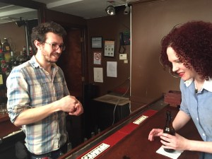 DP Peter Westervelt and Sarah Schoofs setting up at The People's Lounge March 2015