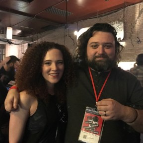 Director Sean Mannion and Lead Actress Sarah Schoofs at the AoBFF18 Launch Party
