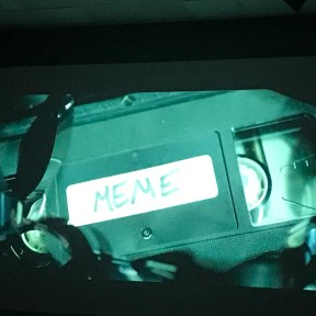 The opening credits on the big screen