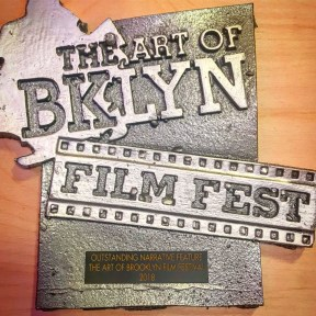 A close up of the award.