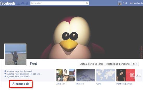 a propos de facebook