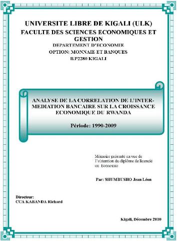 Memoire Online Analyse De La Corrlation De L