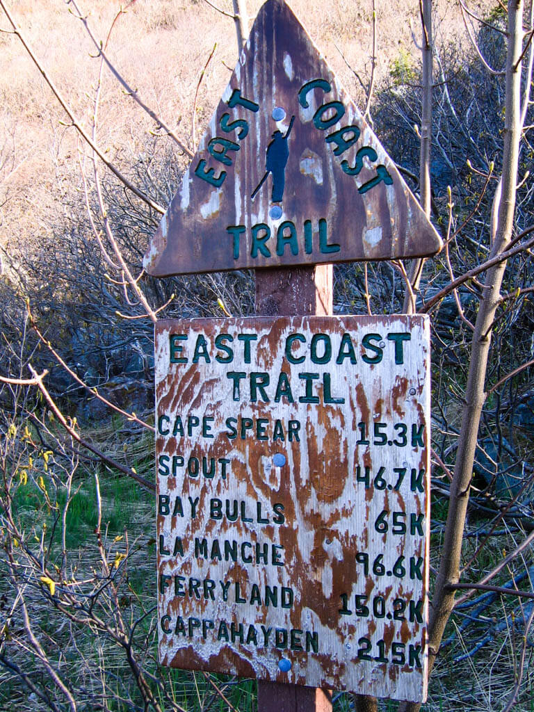 East Coast Trail sign