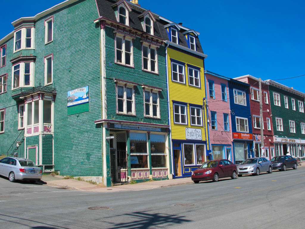 Jellybean Houses in Downtown St. John's