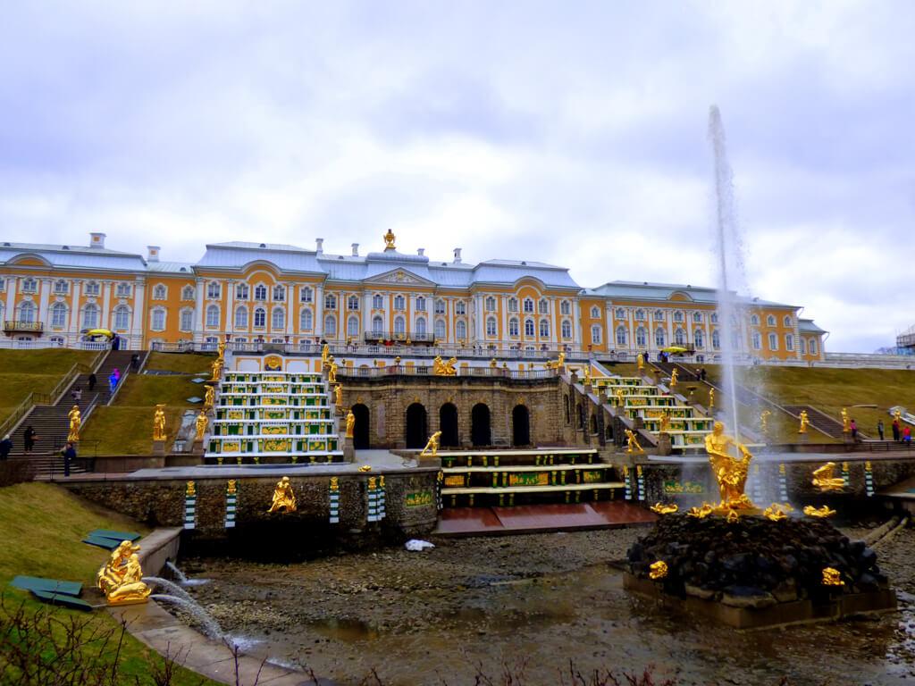 Peterhof Palace in April