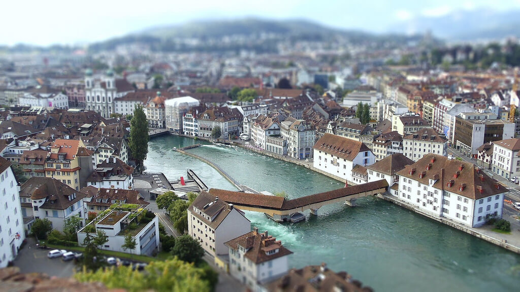 A view of the city of Lucerne