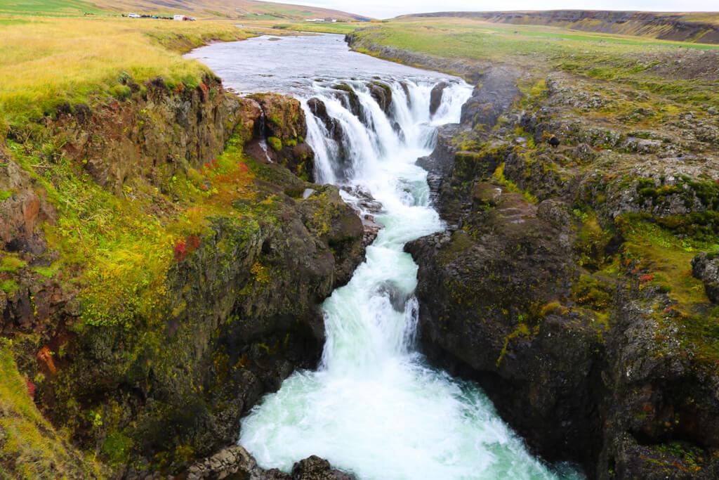 Kolufoss in Kolugljúfur, Northern Iceland