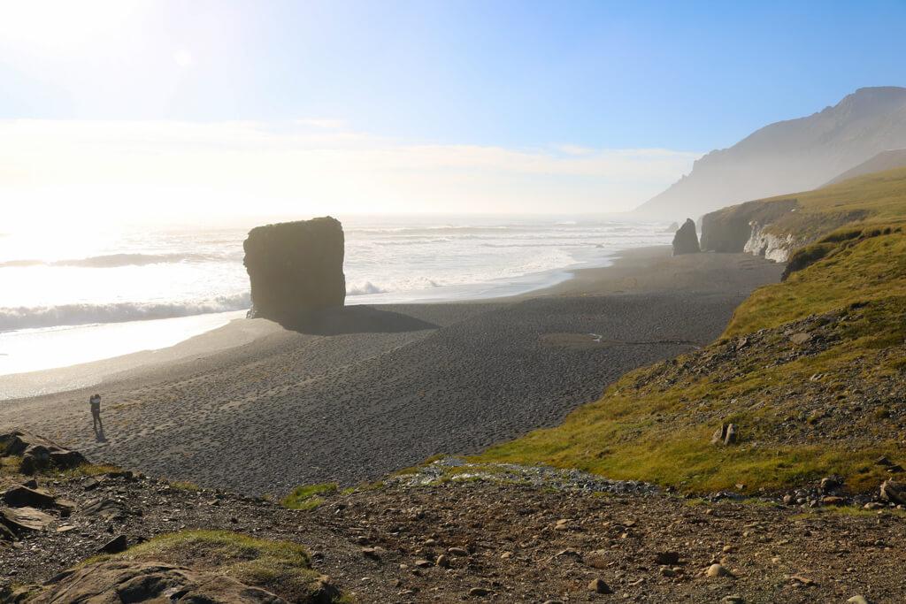 Djúpavogshreppur beach, East Iceland on a sunny day