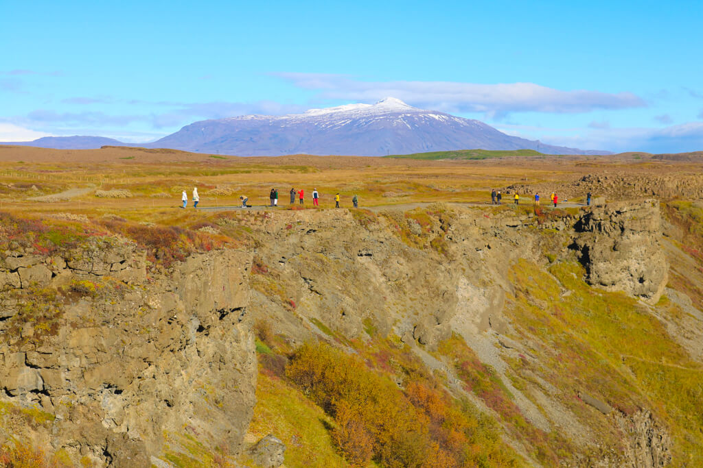 A mountain near Gulfoss waterfall in South Iceland.
