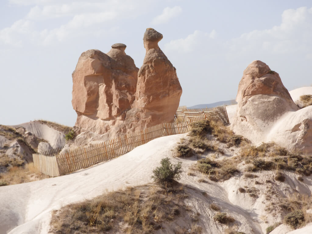 A camel-shaped rock formation in Devrent Valley, Cappadocia, Turkey